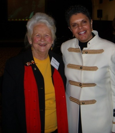 Jean Williamson with Choir Master Deborah Cheetham